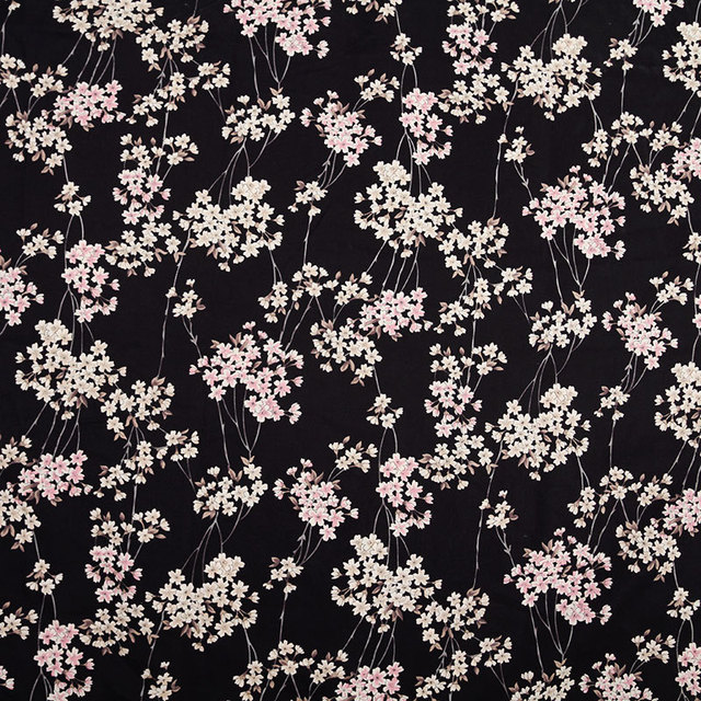 2colors Japanese Cherry Blossoms Printed Cotton Fabric For kimono Dress, Bag, Table Cloth