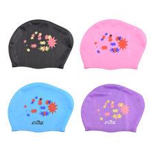 Women Swimming Cap for Long hair Extra Large Rubber Silicone Waterproof Swim Pool Hat Professional Diving equipment(China)