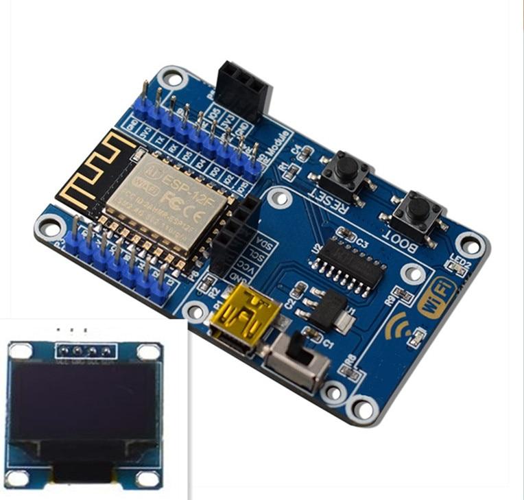 ESP8266 Метеостанция DIY Набор IOT Стартовые наборы для Arduino с 0,96 OLED дисплеем D1 Мини беспроводной wifi Bluetooth модуль - Комплект: Комплект 2