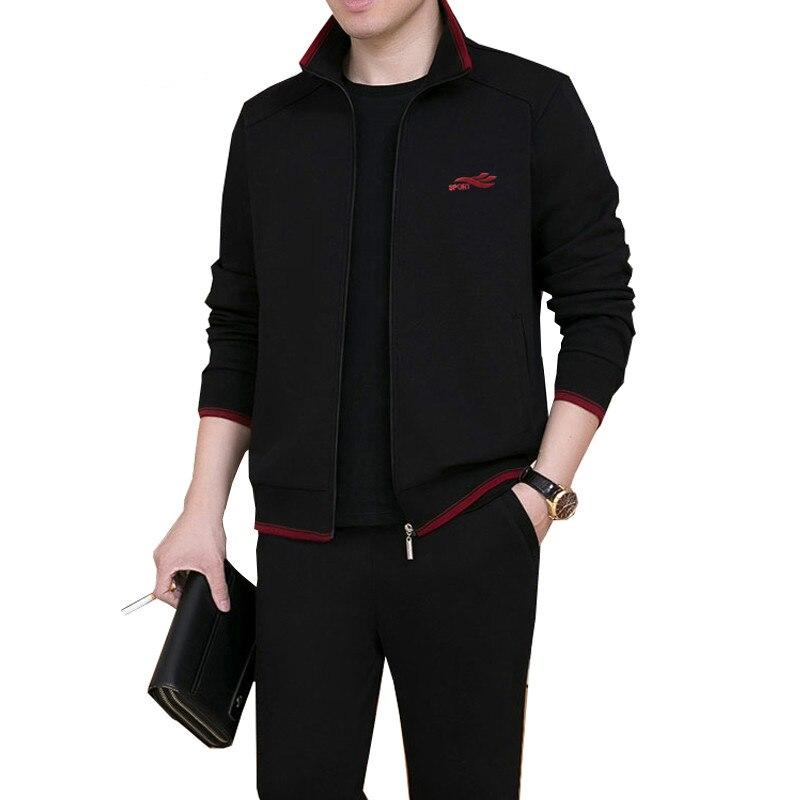 3 Pezzi Set Di Marca Degli Uomini Tuta Uomini Di Nuovo Modo Sweat Suit Tuta Tre Pezzi Sweatershirt Set Casual Mens Abbigliamento Sportivo Set Sconto Online