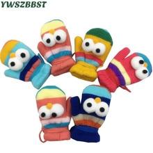 Зимние Детские перчатки милые Мультяшные перчатки для мальчиков и девочек Детские теплые вязаные перчатки От 1 до 8 лет Детские перчатки варежки аксессуары