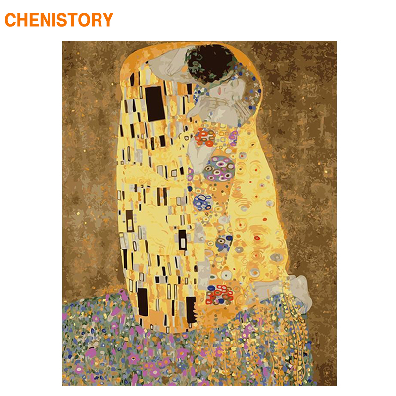 CHENISTORY Frame Famous Figure Picture Diy Painting By Numbers Kits Wall Art Picture Canvas Painting Home Decors 60x75cm Artwork