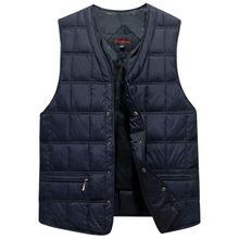 цена на Winter Dresses Men White Duck Down Causal Vest Ultra Light Male Thick Sleeveless Down Jacket Men Warm Vest S-4XL Plus Size