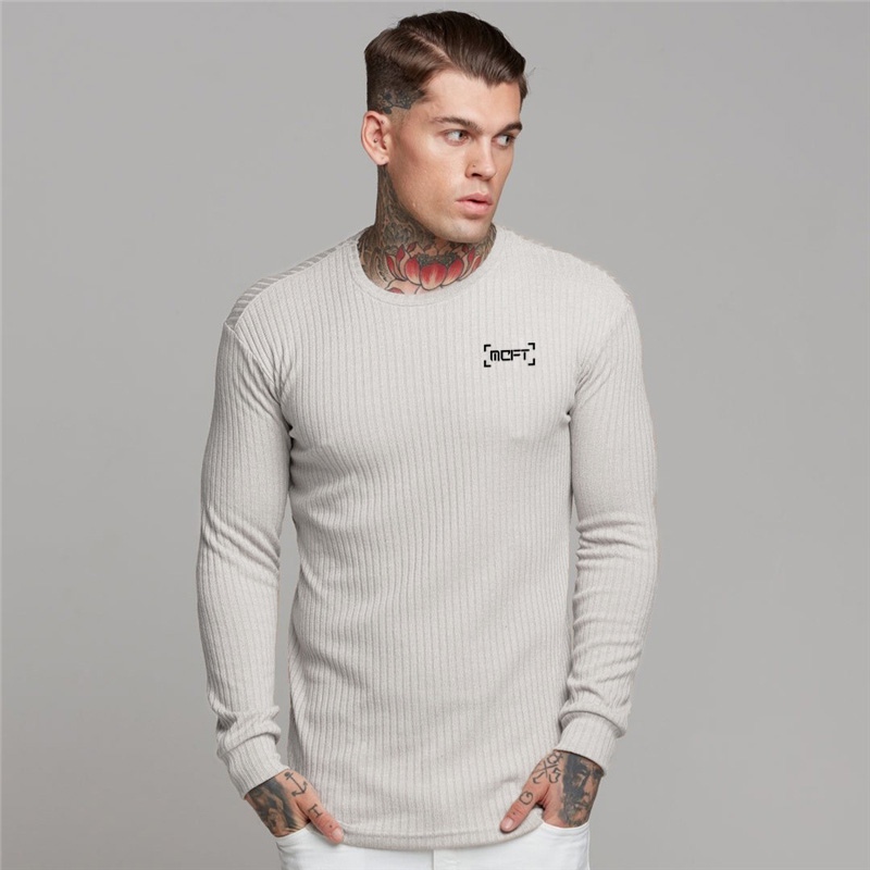 New Fashion Autumn Men's O-neck Sweater Slim Fit Sweaters Man Thin Pullover Men Casual Long Sleeve Knitted Pull Homme