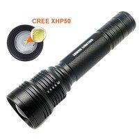 New Long Shot LED Tactical Flashlight CREE XHP50 XHP70 Highlight 5000Lumens Lanterna Aluminum 2 Mode LED
