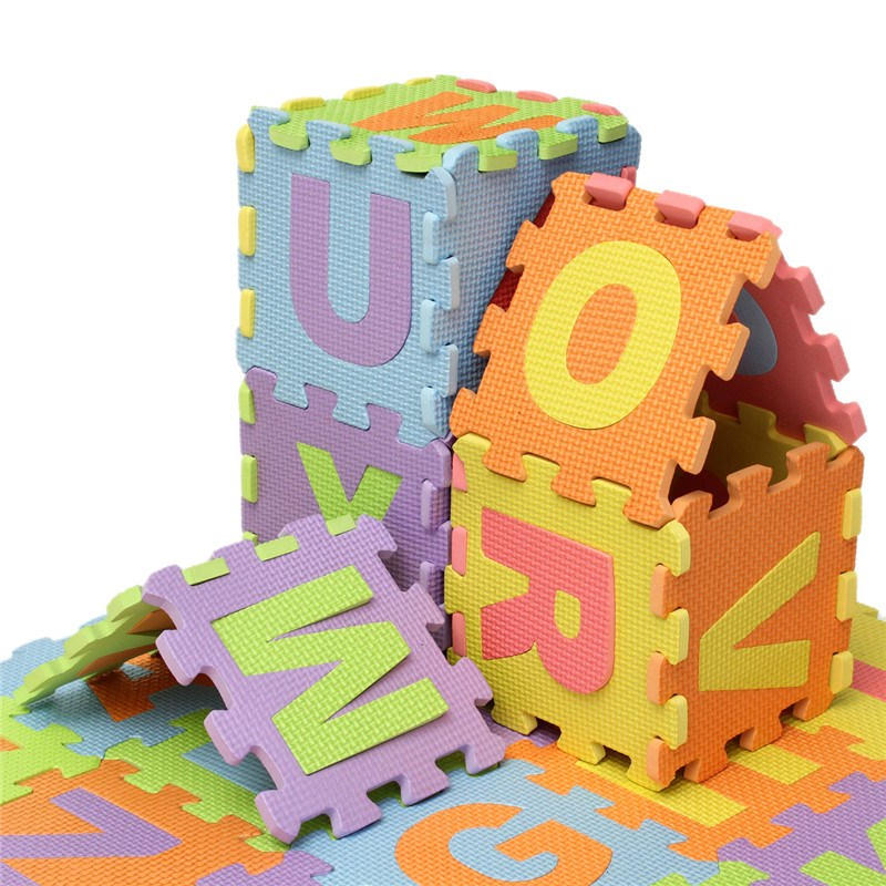 36pcsset puzzle number letter alphabet eva foam mat childrens soft developing crawling baby play