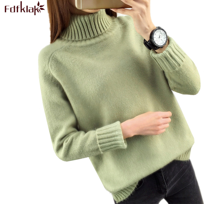 Fdfklak Women Turtleneck Winter Sweater Women 2019 Long Sleeve Knitted Women Sweaters And Pullovers Female Jumper Tricot Tops