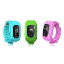 Q50 smartwatch led Tragbare GPS £ smart baby uhr Telefon Tracker Uhr handschlaufe Kind Englisch Version 2G SIM