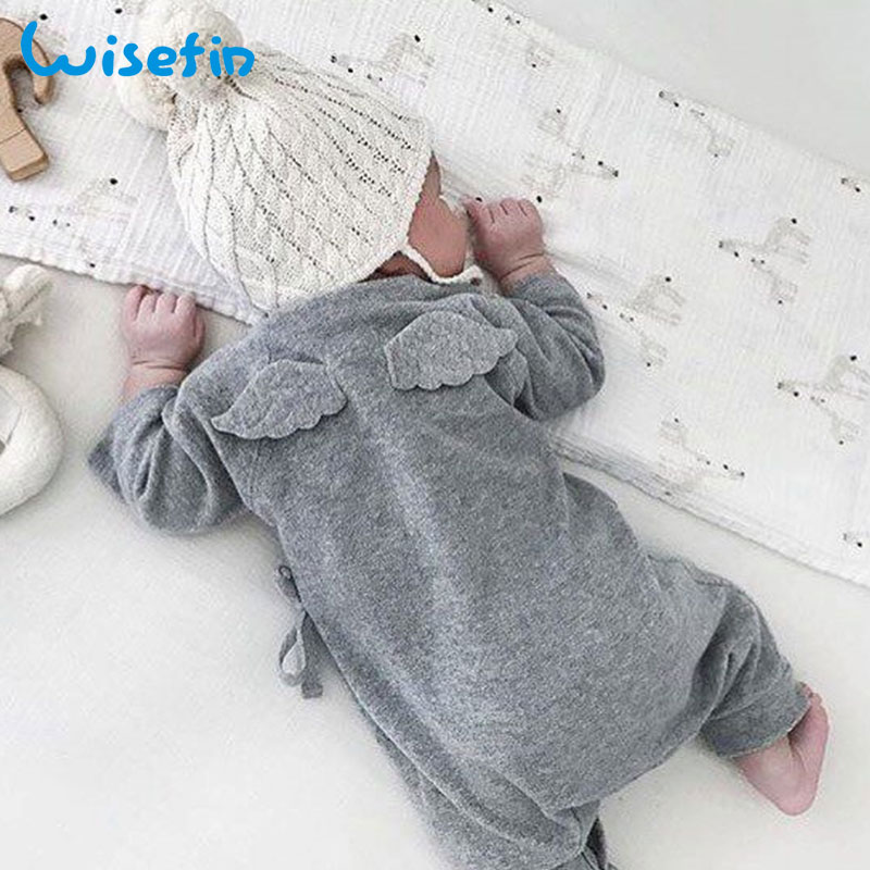 Wisefin Baby Clothes Autumn Baby   Rompers   Long Sleeve Wings Newborn Jumpsuit Unisex Layette Toddler Infant Clothes 0-18 Months