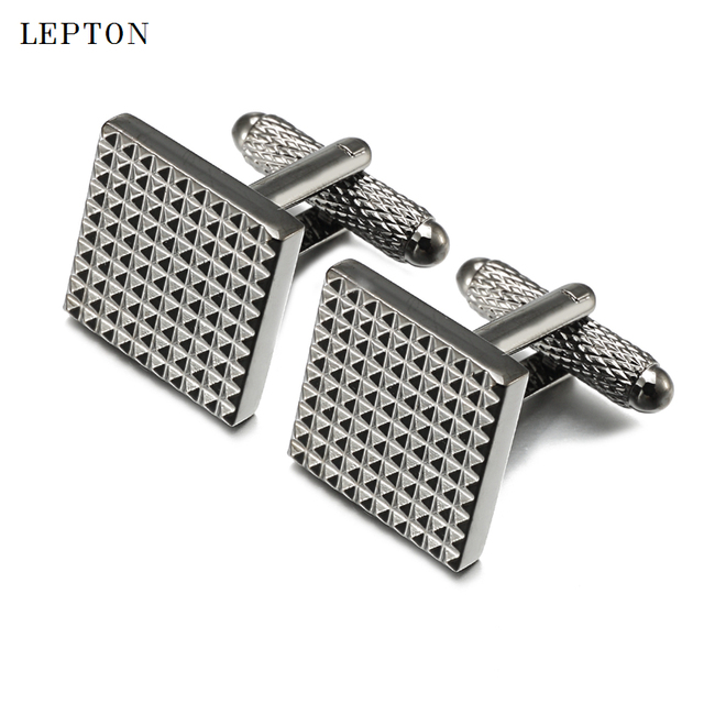 01f6e630d9a Lepton Classic Business Square Black Cufflinks For Mens Shirt Accessories  Men Wedding Groom Carve Cuff links Relojes gemelos