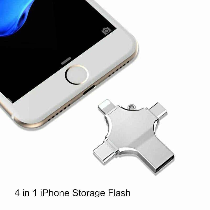 Iphone محرك فلاش Usb 3.0 Cle USB 128GB فلاش بندريف USB-C نوع C الذكي ميركو Usb وتغ الذاكرة عصا ل iphone ios الهاتف