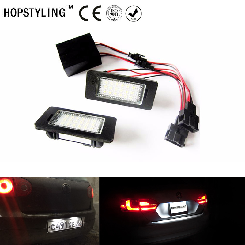 1 set LED License Plate light No Warning Error For Volkswagen Golf 6 Variant Golf plus facelift Jetta Passat 3C b6 b7 car light for volkswagen passat b6 b7 b8 led interior boot trunk luggage compartment light bulb