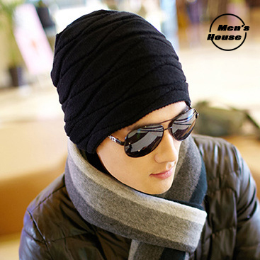 f7c00b68ef9 Hot sale warm winter hat for men simple and comfortable stylish kniited  Skullies caps for cool guy high quality HT001