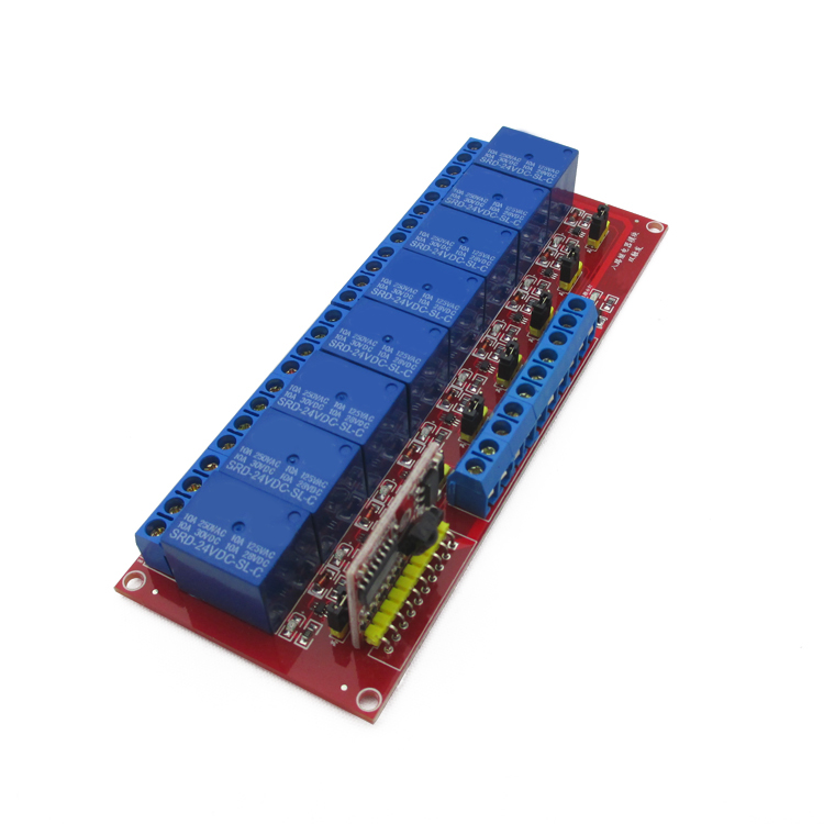 Infrared remote control 8 way relay module 5V/12V/24V high and low bidirectional trigger high quality infrared receiver module ir remote controller