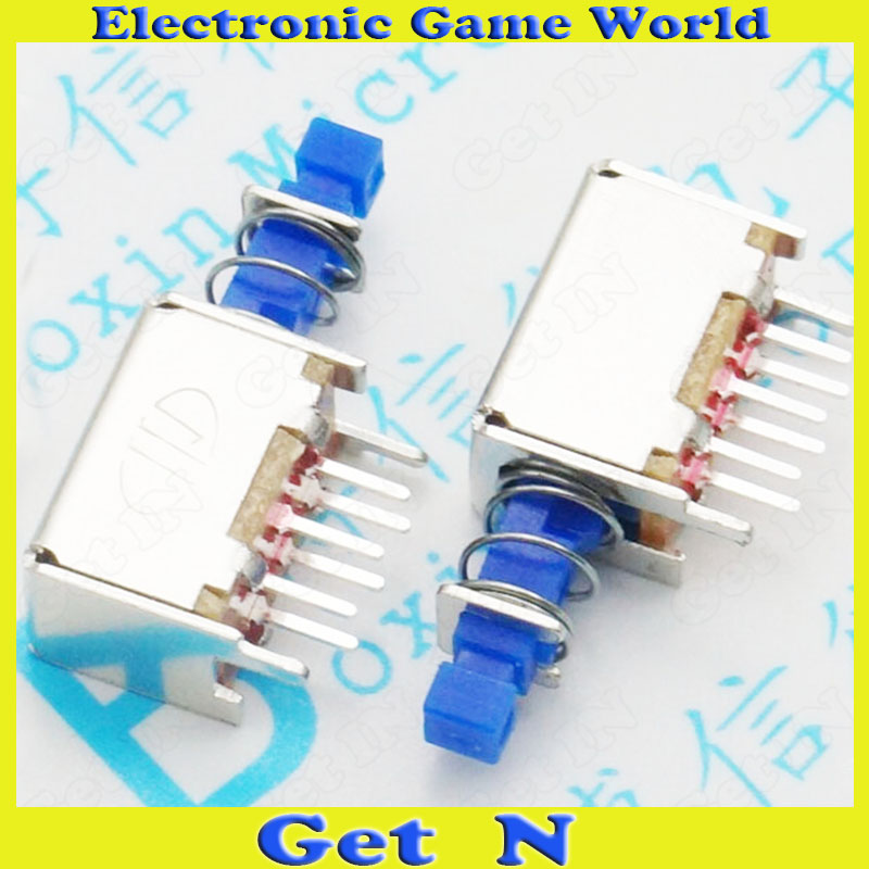 20pcs A04 Flashlight Switch Power ON/OFF Switches DIP Push Button Blue