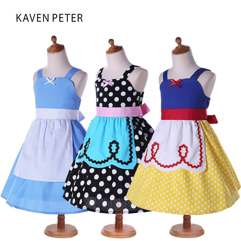 Princess Girls Dresses Girls Snow White Alice Dress 2017 fashion summer dress baby cosplay costume vestido party  Kids clothes fashion baby girls designer clothes 2017 summer party sleeping spell evil kids halloween night angel fairy costume for girls
