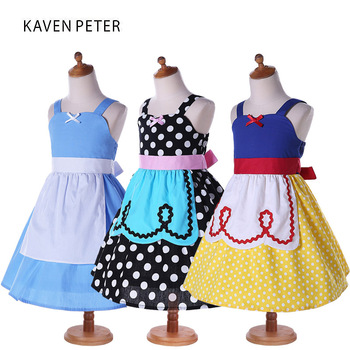 Princess Girls Dresses Girls Snow White Alice Dress 2017 fashion summer dress baby cosplay costume vestido party  Kids clothes