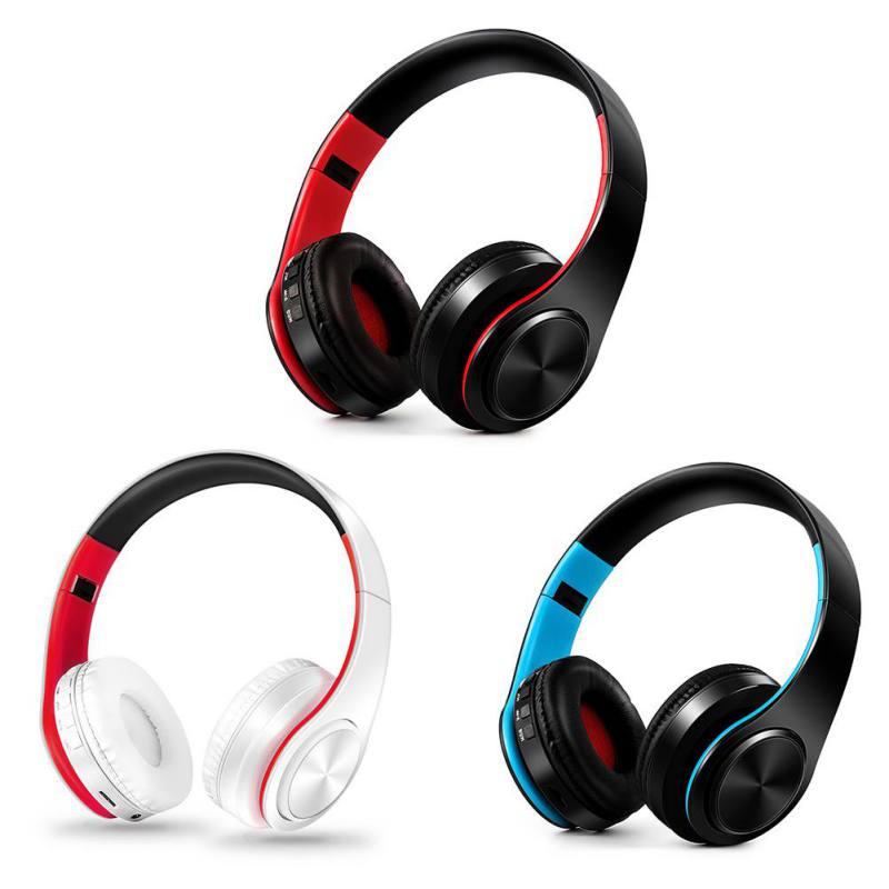 Head Wear Wireless Bluetooth Sports Headphone Foldable Stereo Bluetooth V4.0 Headset Plug TF Cards Earphones