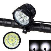 Super Bright Lamp 20000 Lumen 10x XM L T6 LED Front Bike Headlight 3 Modes Bicycle