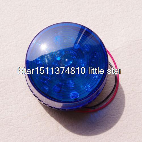 (1) 12VDC Blue LED Beacon Warning Signal Light Lamp Spiral Fixed