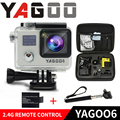 """Chegada de novo! Original YAGOO6 Ultra HD 1080 P Action Camera 30 m wi-fi à prova d' água 2.0 """"LCD Da Câmera esporte ir pro extreme cam Remoto"""