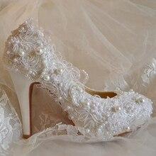 Высокое качество колющими кружева имитация жемчуг свадебные туфли для женщин медовый месяц подарок для вашего друга дочь жены