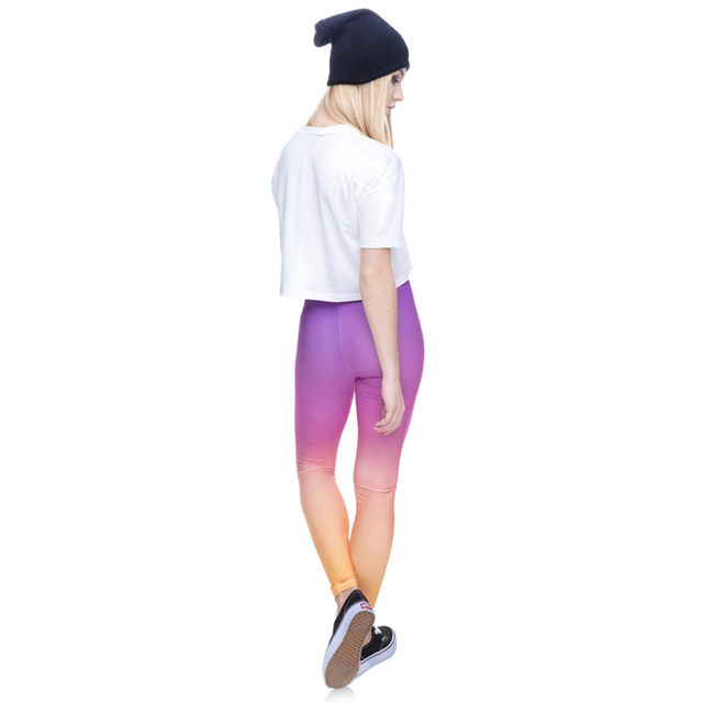 Zohra Hot sales Fashion Ombre Yellow Printed Women's Slim fit Legging workout Trousers Casual Polyester Pants Leggings