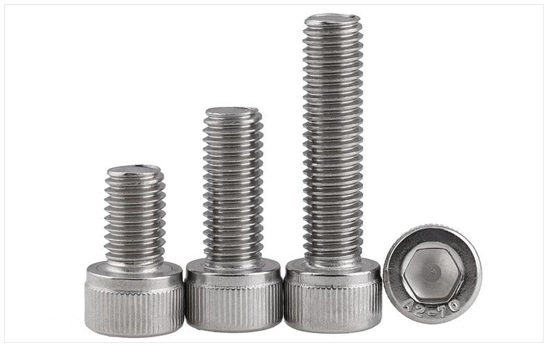 DIN912 304 stainless steel bolts high strength hex socket screws M3 M4 screws twill cylindrical head bolts 20pcs m3 6 m3 x 6mm aluminum anodized hex socket button head screw