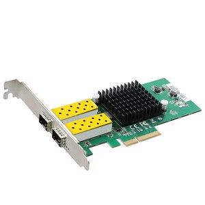 Image 5 - DIEWU 2 Port SFP ağ kartı 1G fiber optik ağ adaptörü PCIe 4X sunucu Lan kartı Intel 82576