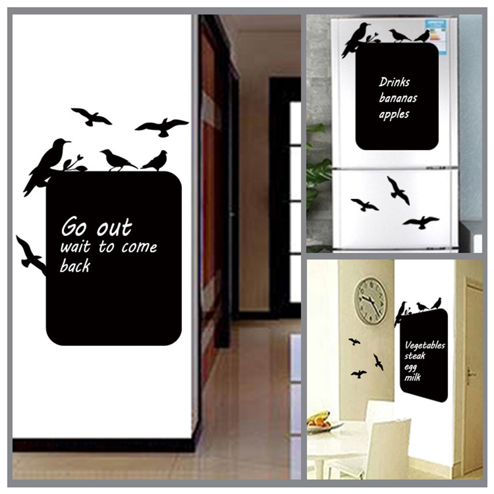 Friendly 1pc Self-adhesive Pvc Blackboard Stickers Shcoolboard Note Posted Plate Wall Sticker Blackboard Chalkboard Message Board 31*45cm Products Hot Sale Presentation Boards Blackboard