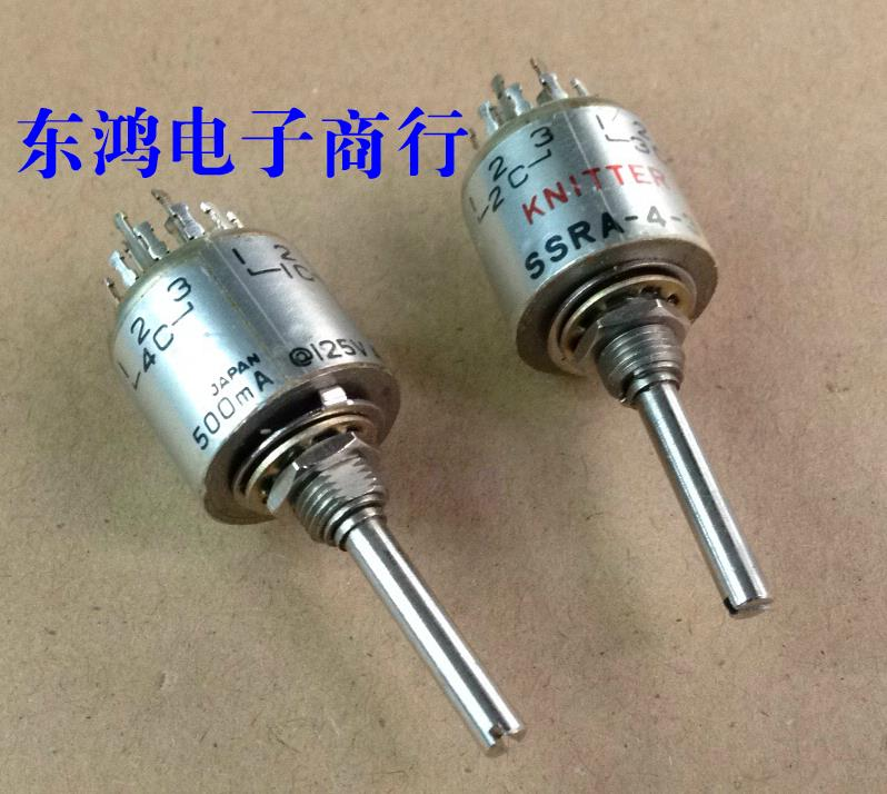 2PCS/LOT KNITTER Germany SSRA-4-3 precision instrument rotary band switch 4 knife, 3 gear shaft length 25MM цена 2017