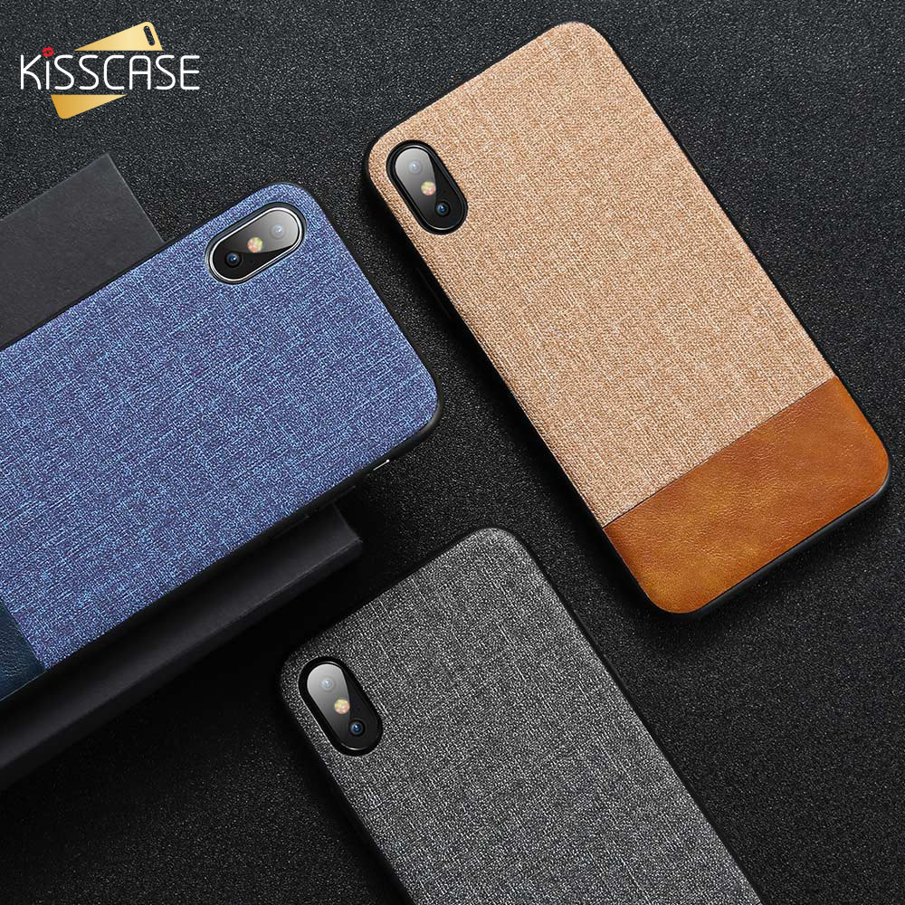 KISSCASE Cloth Leather Case For Samsung Galaxy A50 A70 A40 A20 A30 A60 A80 A90 A6 A8 J4 J6 2018 Phone Case For Samsung S10 Plus-in Fitted Cases from Cellphones & Telecommunications