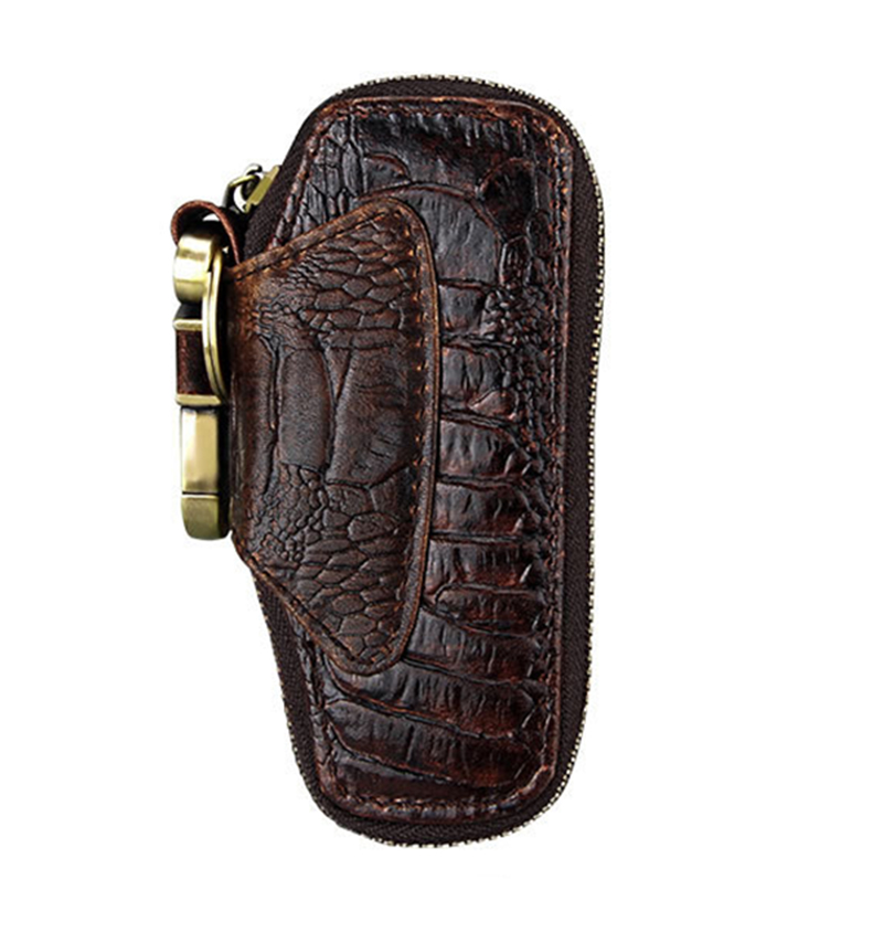 Artmi Unisex Echtem Leder Schlüssel Tasche Vintage Öl Haut Persönlichkeit Mode Zipper Schlüssel Tasche Mit Schlüssel Kette Wir Haben Lob Von Kunden Gewonnen