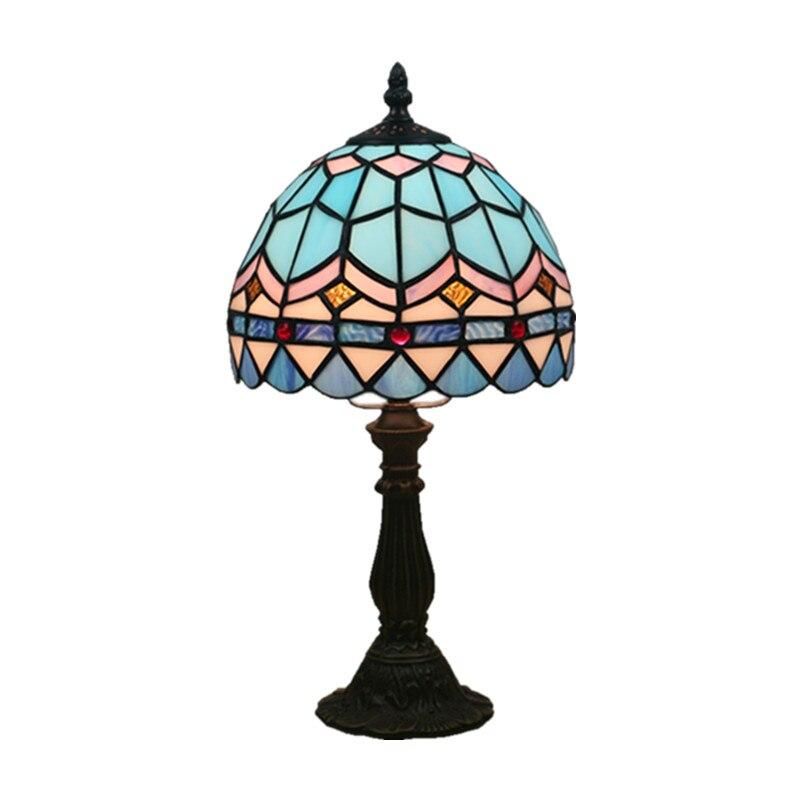 Işıklar ve Aydınlatma'ten Sıra Lambaları'de Vintage Tiffany Deniz masa lambaları Akdeniz Yatak Odası Bedsides masa lambaları çocuk Çalışma Odası Okuma Masa aydınlatma Armatürleri title=