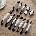 5 pcs Estilo Amarican Mármore Alça de Cerâmica para Armários de Cozinha Maçanetas e Puxadores Porta Do Armário puxadores de Gaveta Puxa
