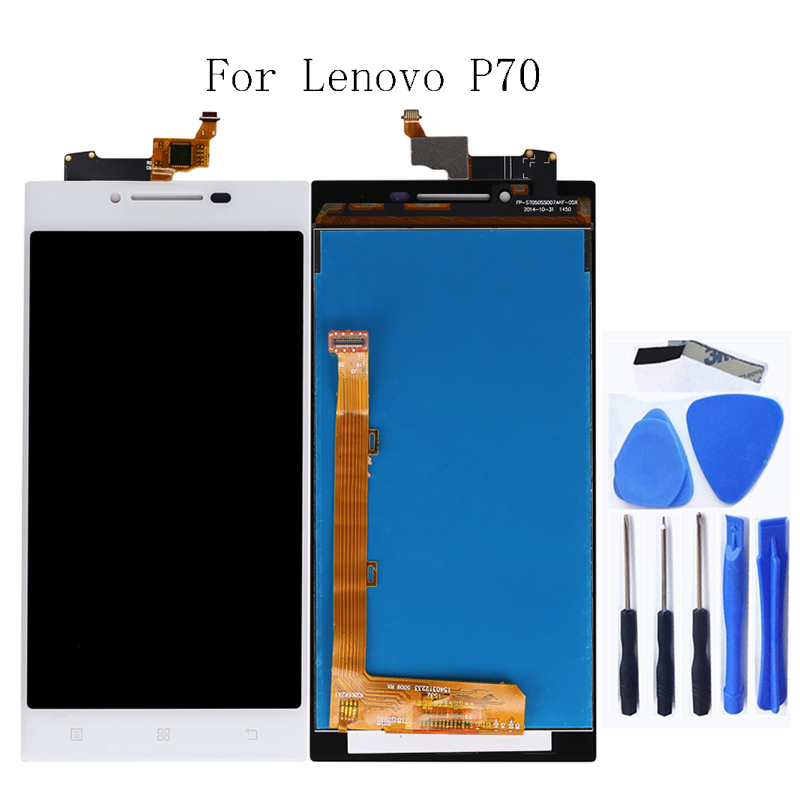 For <font><b>Lenovo</b></font> <font><b>P70</b></font> LCD touch screen mobile phone accessories for <font><b>Lenovo</b></font> <font><b>P70</b></font> <font><b>display</b></font> and digitizer free shipping image