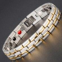 Маленькая лягушка Прямая поставка Исцеление Магнитный браслет человек/женщина 316L нержавеющая сталь германий золотые браслеты на запястье Мода ювелирны