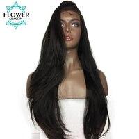 FlowerSeason предварительно сорвал 5*4,5 шелк база бесклеевого парики натуральные волосы с волосами младенца Яки прямой малайзийские волосы