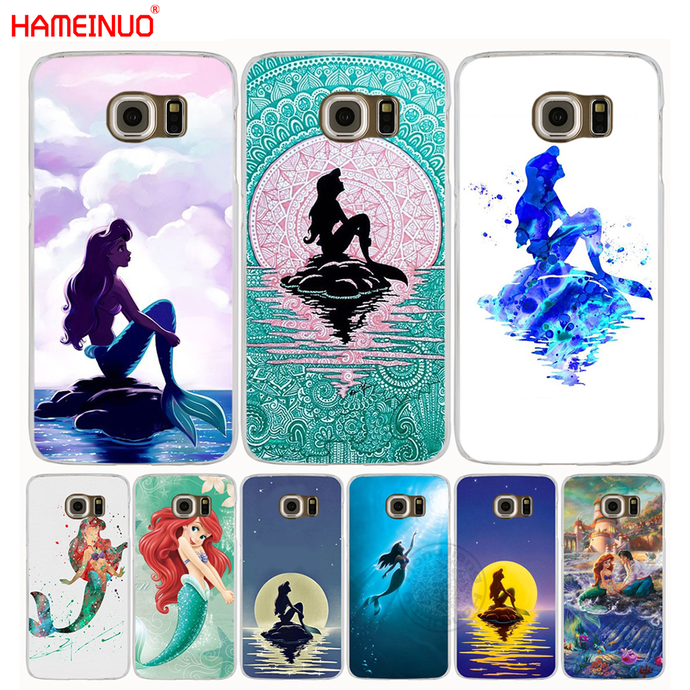 newest collection 13989 47e46 US $1.99 32% OFF|HAMEINUO Ariel little mermaid cell phone case cover for  Samsung Galaxy S7 edge PLUS S8 S6 S5 S4 S3 MINI-in Half-wrapped Case from  ...