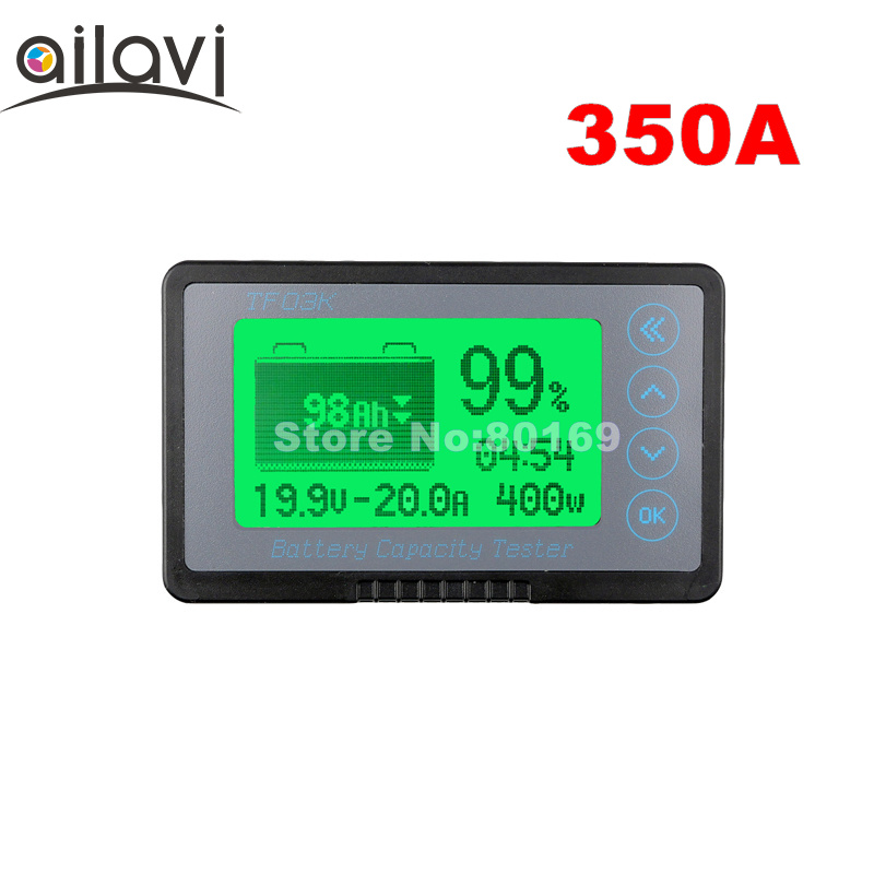 DC12-72V 350A тестер емкости батареи TF03K на заказ TTL232 функция связи кулометр для RV