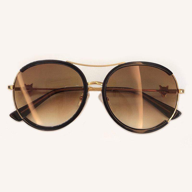 Objektiv 1 3 no Brillen Rahmen Luxus Uv400 5 no De no Runde 2019 Oculos Qualität 2 Sonnenbrille 4 Sol Mode Frauen No Hohe Metall no 6 Feminino no PT1SW