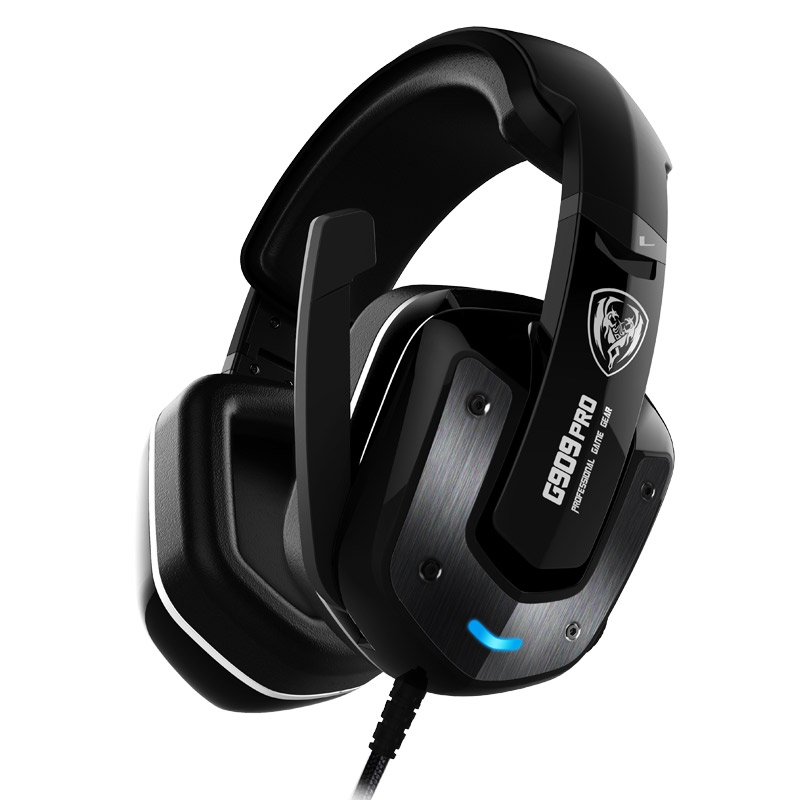 SOMIC G909PRO 7.1 Sound Gaming Headphone Stereo Bass Gaming Headset with Mic Noise Cancelling Voice control for PC GAME PLAYER authentic somic e95x 5 2 multi channel vibration headset super bass noise canceling headphone with led mic for ps4 fps game