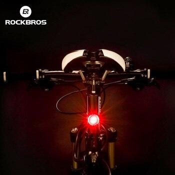 ROCKBROS USB Перезаряжаемый IPX5 задний фонарь Мини светодиодный MTB дорожный велосипедный задний фонарь 5 люмен Водонепроницаемый Интеллектуальны...