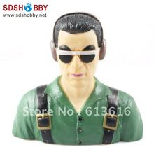 1 4 Scale Pilot Statues Pilot Portrait Toy Steve L115 W51 H115mm for RC Airplane