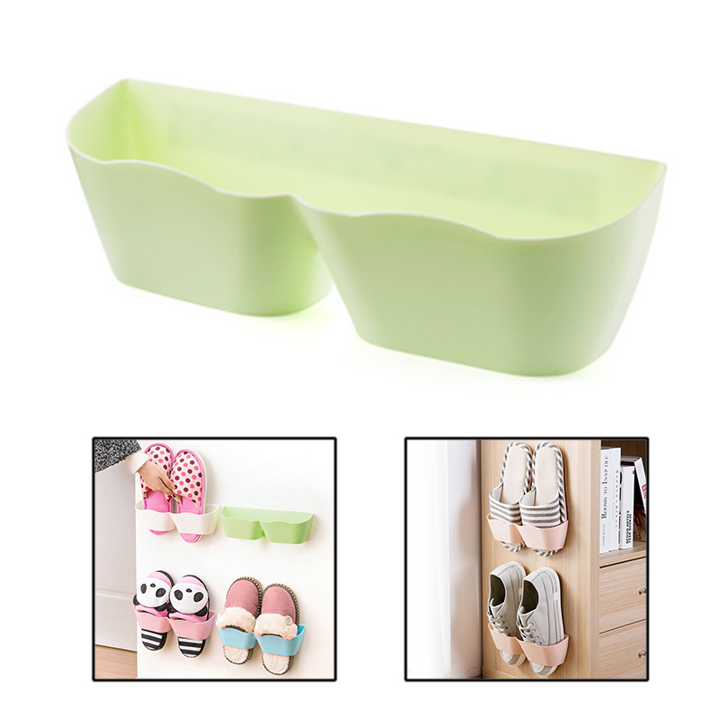 Creative Shoes Storage Shoes Rack Organizer Convenient 3D Wall-mounted Adhesive Shoes Rack Wall Hanging Shoes Organizer Hanger