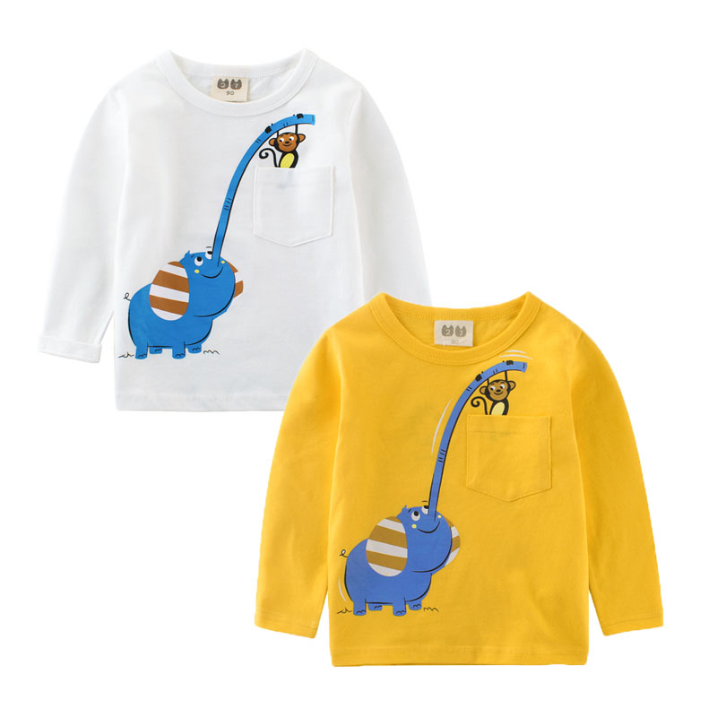 Children T-shirt Cartoon Long Sleeve Shirts For Baby Boys&girls Spring Autumn Sweatshirt Kids Cotton Blouse Toddler Tops