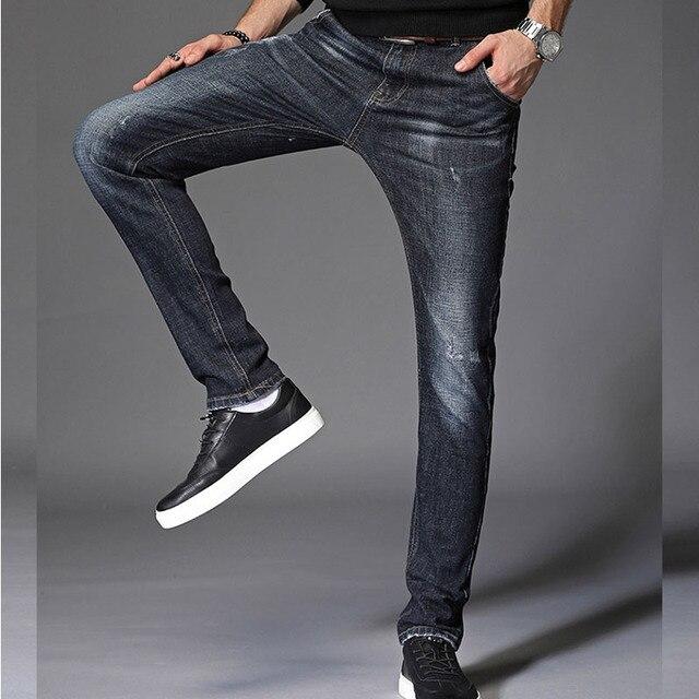CHOLYL hombres moda verano Casual Stretch Skinny Jeans pantalones apretados  colores sólidos vaqueros más tamaño 38 b662b251aea