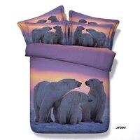 Comforter bedding sets 3D Polar Bear duvet cover bed sheet quilt bedspread super Cal King size queen full twin single linen 5PCS