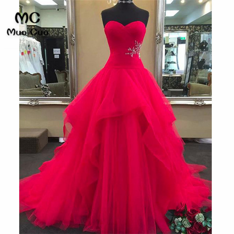 2018 Ball Gowns Prom dresses Long with Beaded Sweetheart Women\'s ...