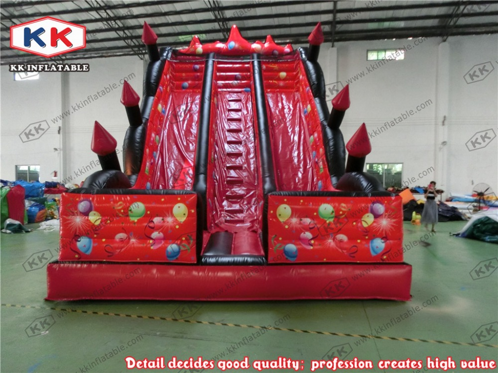 inflatable slide with dual lanes PVC inflatable slide red giant inflatble font b bouncer b font